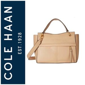 "🆕 Cole Haan ""Kathlyn"" Leather Satchel in Nude"